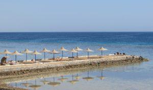 Strandabschnitt vom Tauchen in Hurghada
