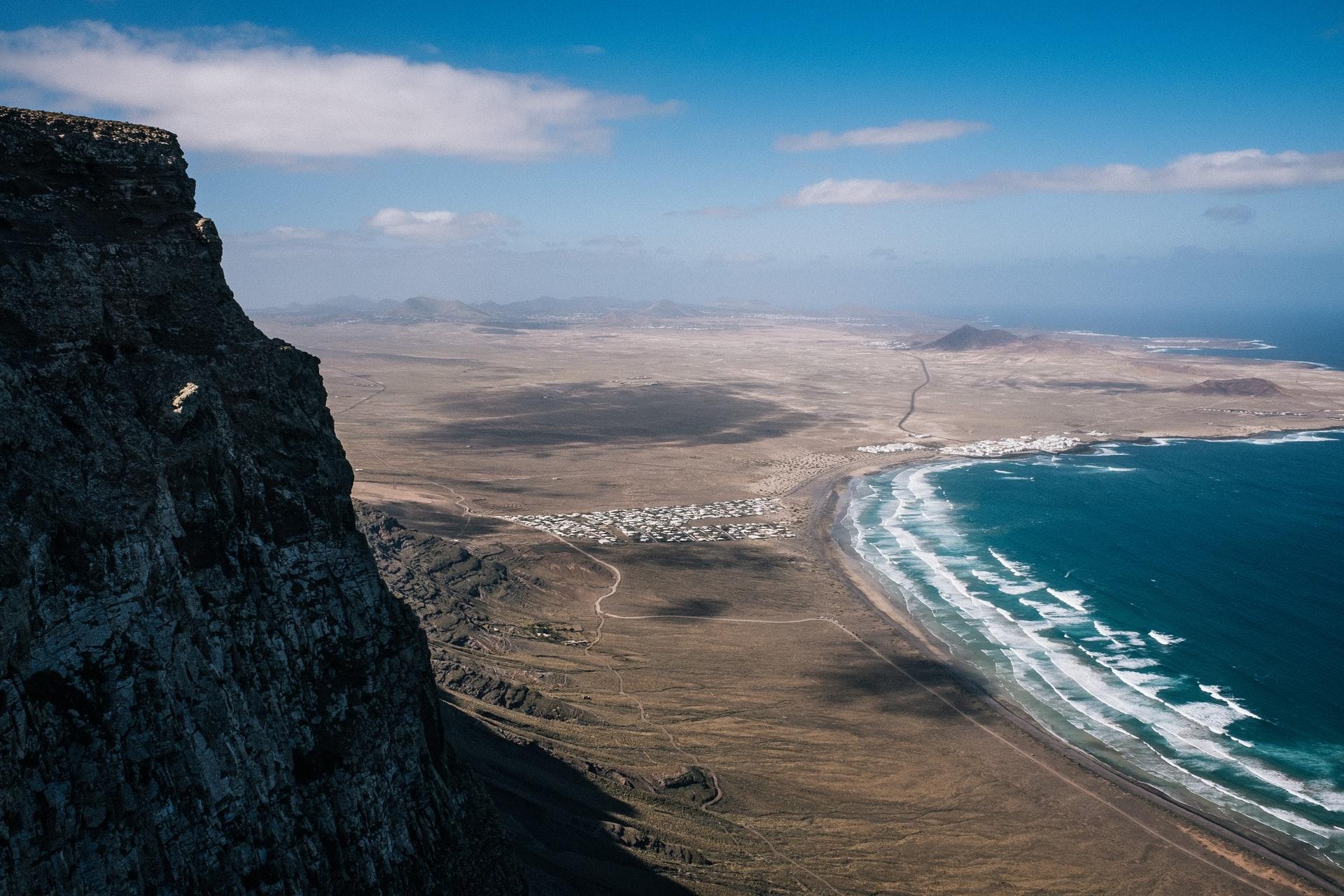 Küstenprofil Lanzarote von oben